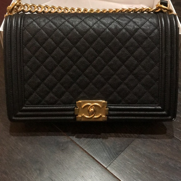 d7633c2d6d6b5d CHANEL Bags | Boy Bag With Antique Gold Chain | Poshmark